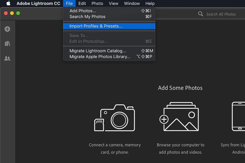 Importing presets to lightroom cc for desktop