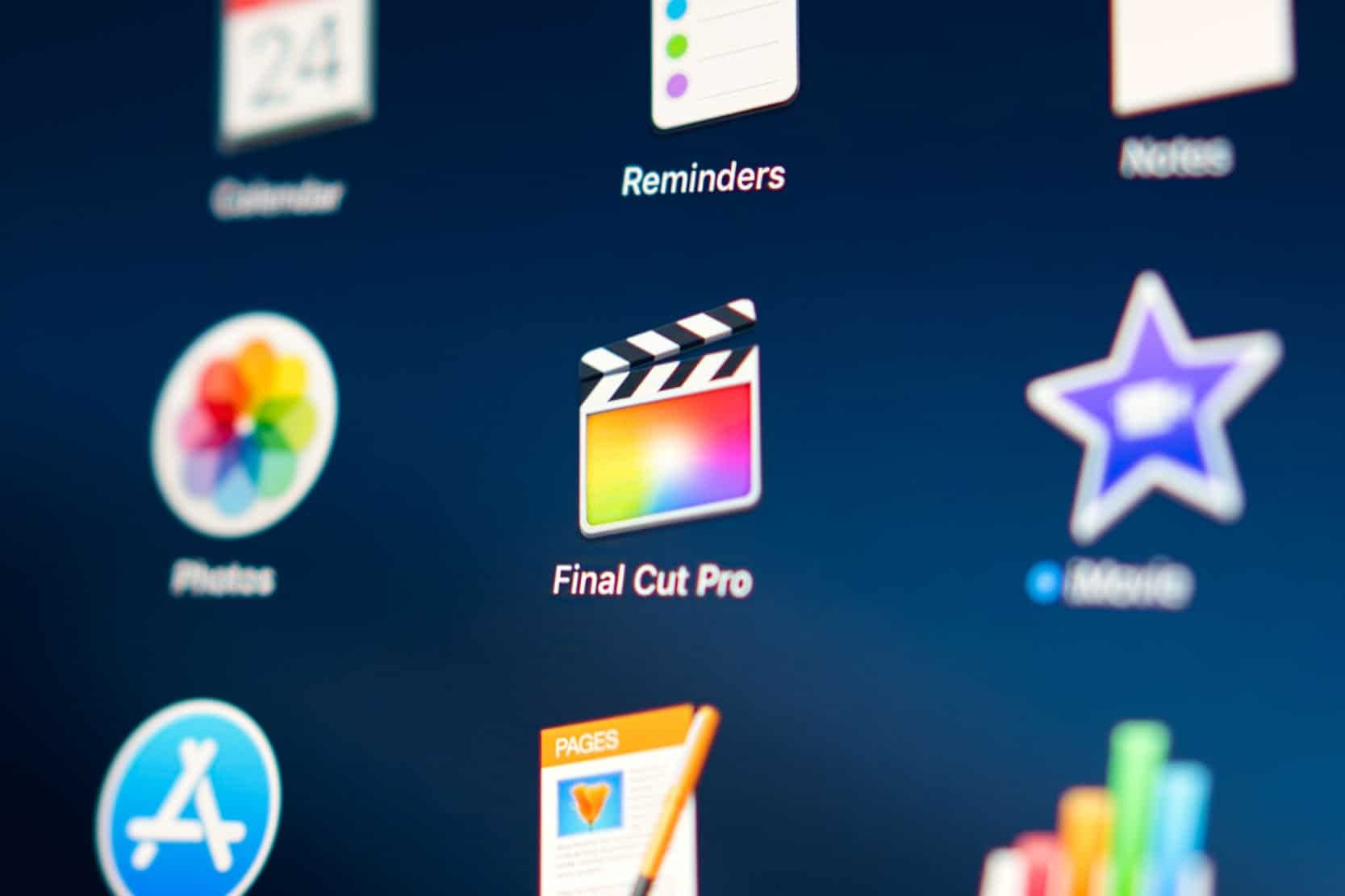 Final Cut Pro X app on Mac Dashboard