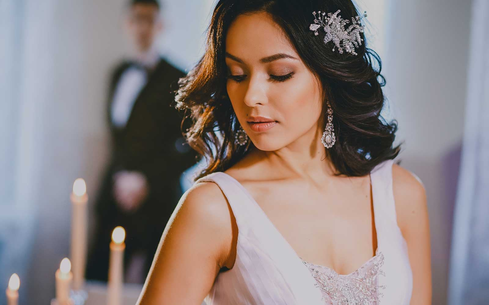 Elegant Bride with White Dress (After Applying Preset)