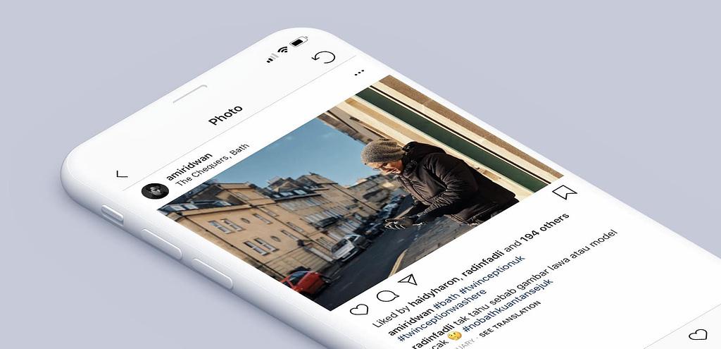 Amir Ridwan - Chequers, Instagram Mockup