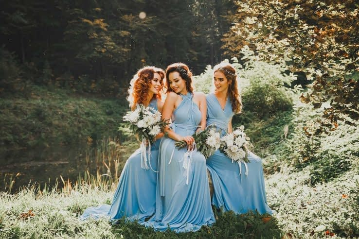 Bridesmaids chilling at a park (After Preset has been Applied)