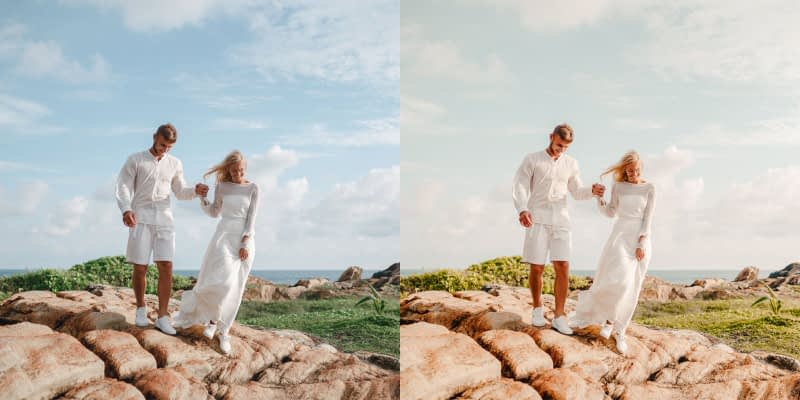 Wedding Photo edited using Golden Hour Native Preset