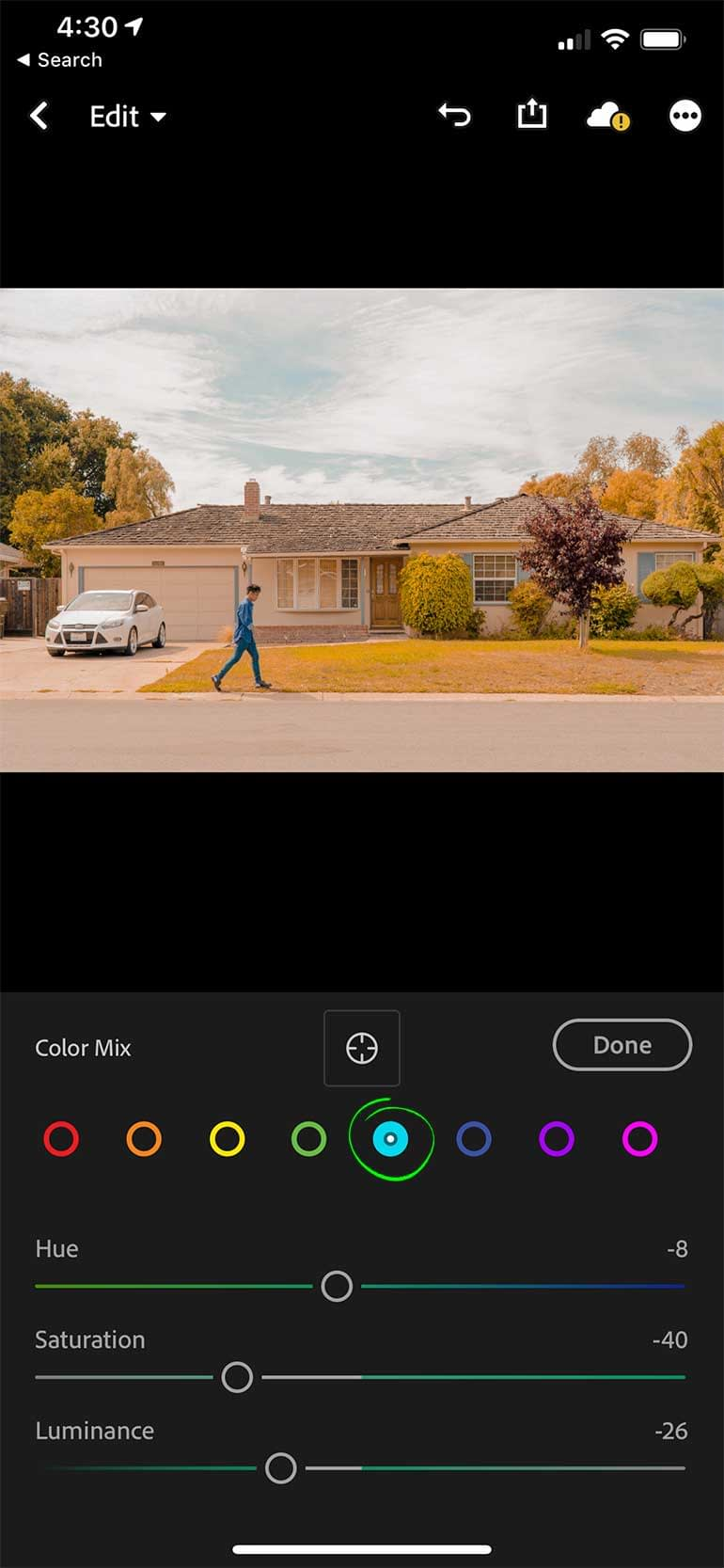 Color Mix Settings