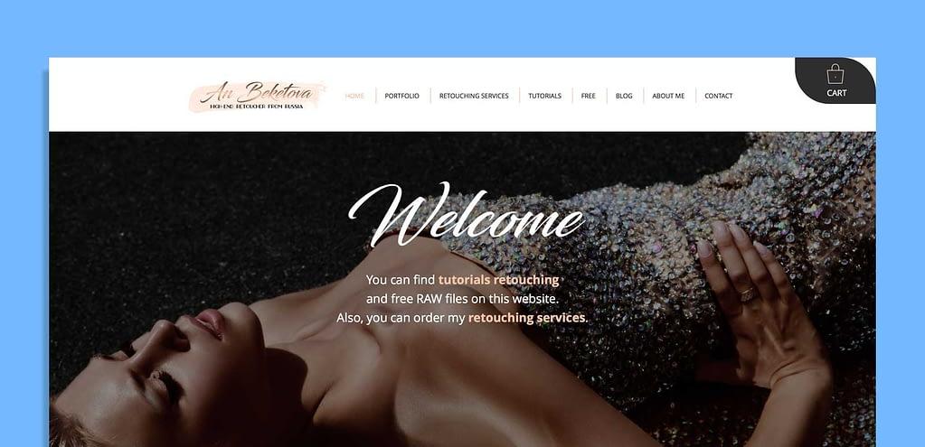 An Beketova Website